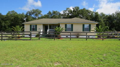 Citra Single Family Home For Sale: 1699 NW 155th Street