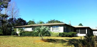 Williston FL Single Family Home For Sale: $129,900