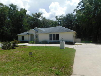Dunnellon Single Family Home For Sale: 18890 SW 99th Street