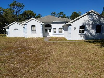 Crystal River Single Family Home For Sale: 12025 W Appletree Place