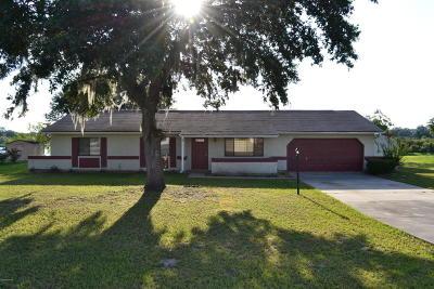 Ocala Single Family Home For Sale: 1111 Hickory Road