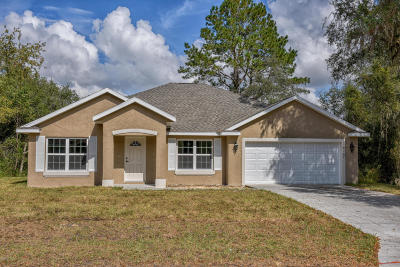 Ocala Single Family Home For Sale: 2830 SW 177 Place Road