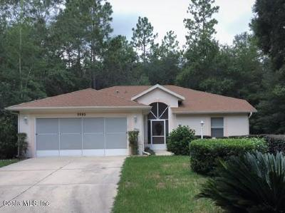Dunnellon Single Family Home For Sale: 9995 SW 188th Circle