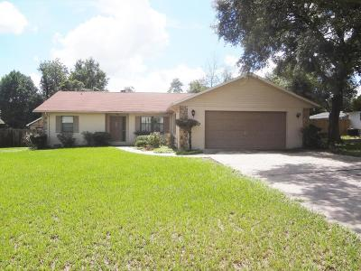 Ocala Single Family Home For Sale: 13971 SW 34th Terrace Road