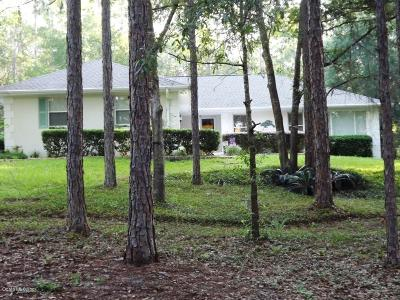 Dunnellon Single Family Home For Sale: 9239 SW 212 Court