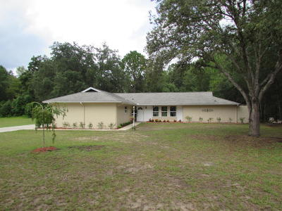 Dunnellon Single Family Home For Sale: 19681 SW 88 Place Road