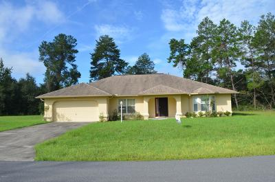 Ocala Single Family Home For Sale: 16688 SW 43rd Terrace Road