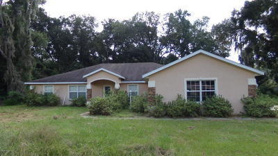 Belleview Single Family Home For Sale: 10749 SE 55th Avenue