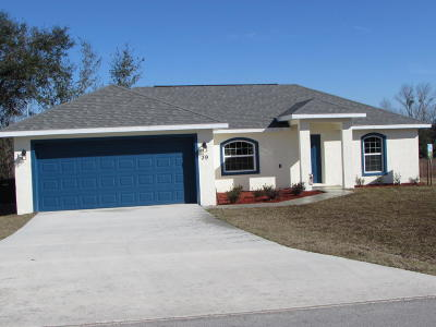 Ocala Single Family Home For Sale: 39 Juniper Pass Trail