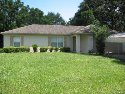 Belleview Single Family Home For Sale: 12335 SE 74th Terrace