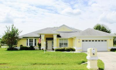 Ocala Single Family Home For Sale: 101 Hickory Loop