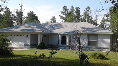 Dunnellon Single Family Home For Sale: 23759 Columbine Avenue