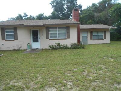 Salt Springs Single Family Home For Sale: 12631 NE 243rd Avenue