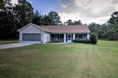 Dunnellon Single Family Home For Sale: 13090 SW 82nd Lane