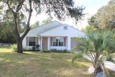 Dunnellon Single Family Home For Sale: 21682 SW Peach Blossom Street