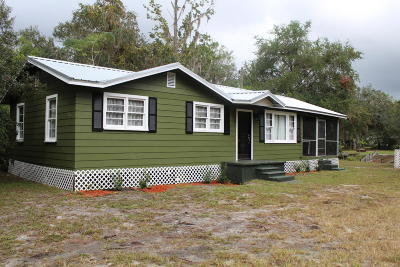 Salt Springs FL Single Family Home For Sale: $81,900