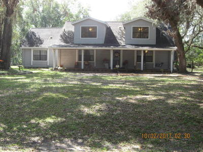 Dunnellon Single Family Home For Sale: 10280 SW 137th Avenue