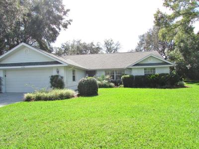 Dunnellon Single Family Home For Sale: 19726 SW 95 Street
