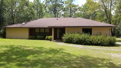 Dunnellon Single Family Home For Sale: 9060 SW 213th Terrace Road