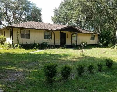 Dunnellon Single Family Home For Sale: 24392 SW Shorewood Drive North