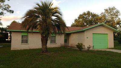 Ocala Single Family Home For Sale: 17 Lake Court Loop