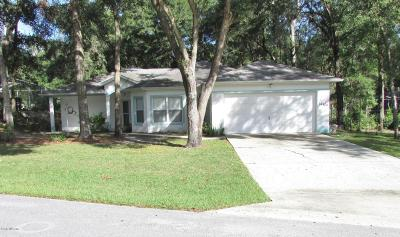 Dunnellon Single Family Home For Sale: 10114 SW 190th Court