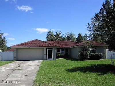 Ocala Single Family Home For Sale: 16301 SW 21st Court