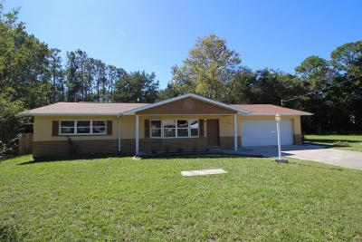 Crystal River Single Family Home For Sale: 6206 W Pinedale Circle