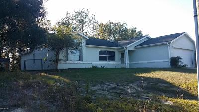 Ocala Single Family Home For Sale: 6150 SW 154th Place Road