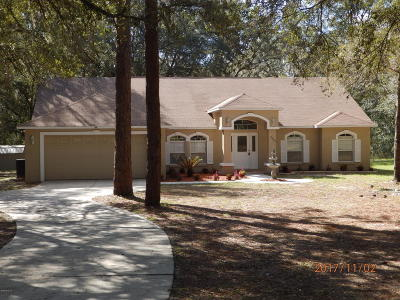 Dunnellon Single Family Home For Sale: 17950 SW 37th Street