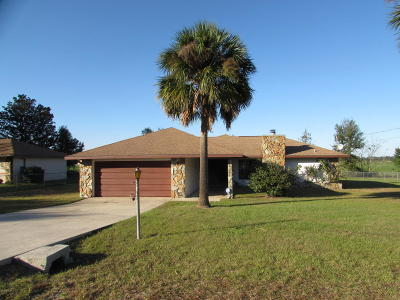 Dunnellon Single Family Home For Sale: 21511 SW Plantation Street