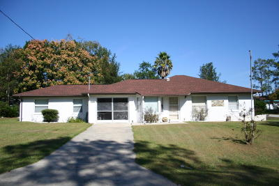 Dunnellon Single Family Home For Sale: 21507 SW Peach Blossom Street