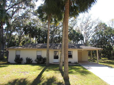 Dunnellon Single Family Home For Sale: 1590 W.j. Williams Lane