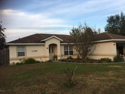 Marion County Rental For Rent: 13485 SW 113th Lane