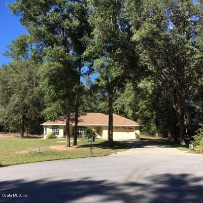 Dunnellon Single Family Home For Sale: 19025 SW 100th Place