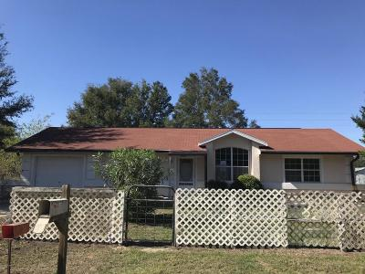 Dunnellon Single Family Home For Sale: 10390 SW 139th Court
