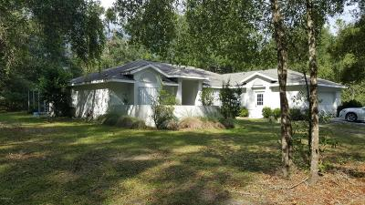 Dunnellon Single Family Home For Sale: 19017 SW 105th Lane Road
