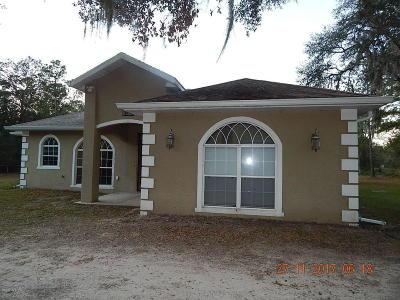 Fort McCoy Single Family Home For Sale: 16785 NE 135th Avenue