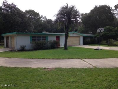 Dunnellon Single Family Home For Sale: 20029 SW 80th Place Rd