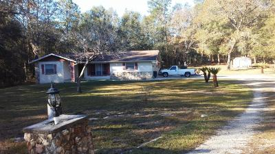 Dunnellon Single Family Home For Sale: 9600 SW 202nd Avenue