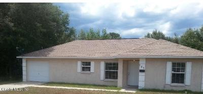Ocala Single Family Home For Sale: 167 Pine Course
