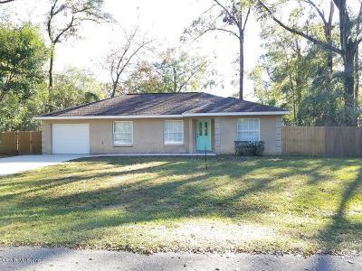 Ocala FL Single Family Home For Sale: $115,000