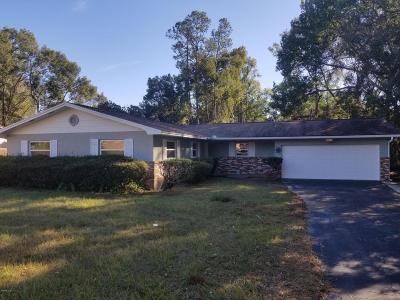 Ocala Single Family Home For Sale: 4812 NE 12th Street