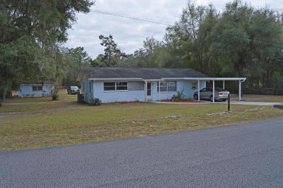 Dunnellon Single Family Home For Sale: 23512 SW Pony Ridge Drive