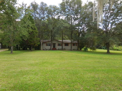 Williston FL Single Family Home For Sale: $98,500