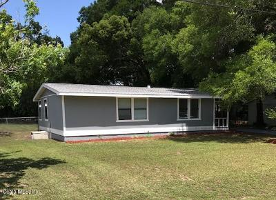 Dunnellon Single Family Home For Sale: 1585 W Pinion Lane