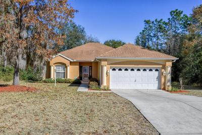 Dunnellon Single Family Home For Sale: 9745 SW 196th Circle