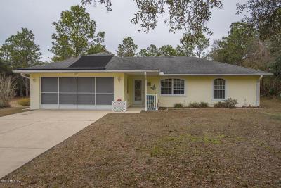 Hernando Single Family Home For Sale: 1107 E Rockefeller Lane