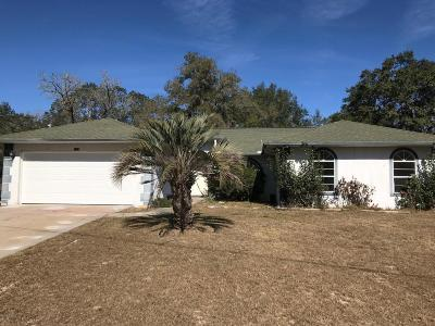 Citrus Springs Single Family Home For Sale: 1357 W Mosswood Lane