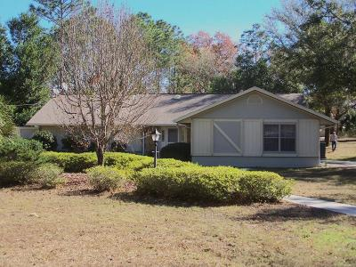 Dunnellon Single Family Home For Sale: 8836 SW 205th Circle